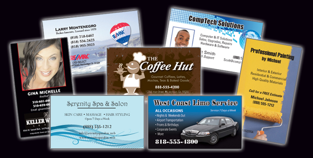 Promote a professional image every time with high quality color business cards!